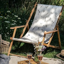 DIY Deckchairs - stamping onto fabric